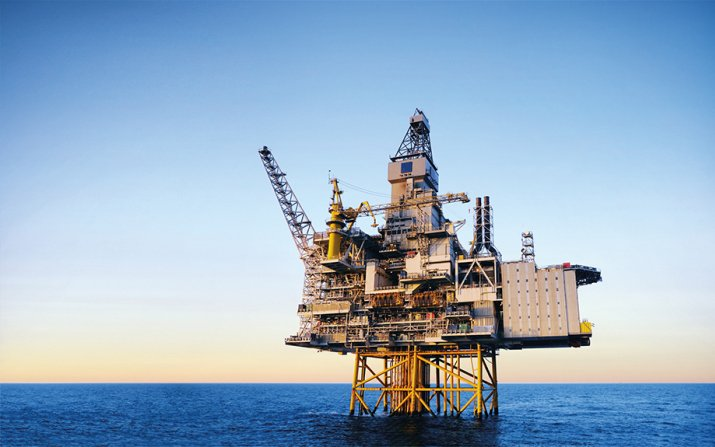 Image of an offshore oil rig