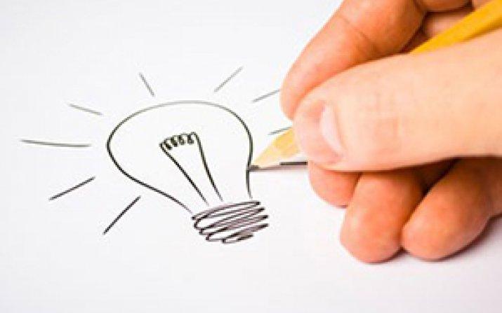 drawing of a lightbulb